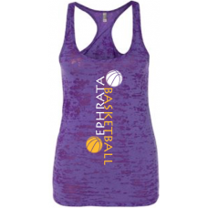 Purple Burnout Racerback Tank