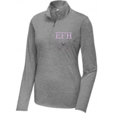 Ladies Tri-Blend Wicking   1/4 Zip
