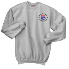 Crewneck Sweatshirt With Left Chest & Back Print