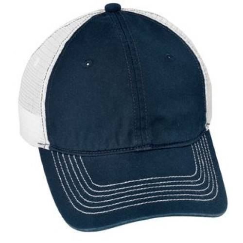 District® - Mesh Back Cap With New Holland Aquatic Club Embroidery.  Navy White 245bd28122f