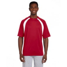 Harriton 4.2 oz. Athletic Sport Colorblock T-Shirt With New Holland Aquatic Club Print