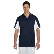 Harriton Men's Side Blocked Micro-Pique Polo With New Holland Aquatic Club Embroidery