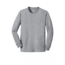 Port & Company® Youth Long Sleeve 5.4-oz 100% Cotton T-Shirt With New Holland Aquatic Club Print