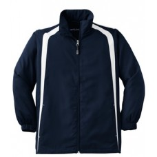 Sport-Tek® Youth Colorblock Raglan Jacket With New Holland Aquatic Club Embroidery
