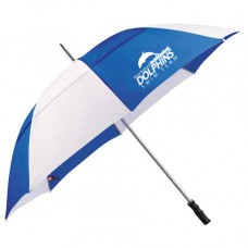"Royal/White 60"" Golf Umbrella With New Holland Dolphins Swim Team Print"