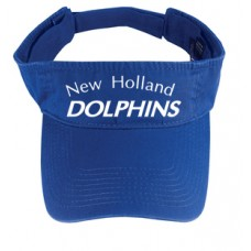 Royal Fashion Visor With New Holland Dolphins Swim Team Embroidery