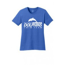 Royal Ladies Cotton Tee Shirt With New Holland Dolphins Swim Team Print