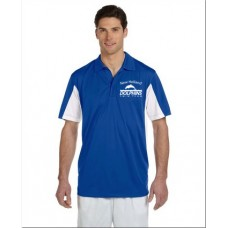 Royal/White Men's Side Blocked Micro-Pique Polo With New Holland Dolphins Swim Team Embroidery