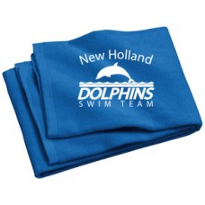 Beach Towel With New Holland Dolphins Swim Team Embroidery