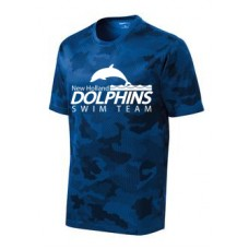 Mens Camohex Poly Shirt With New Holland Dolphins Swim Team Print