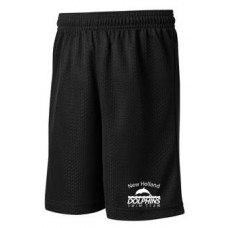 Youth Poly Mesh Shorts With New Holland Dolphins Swim Team Embroidery