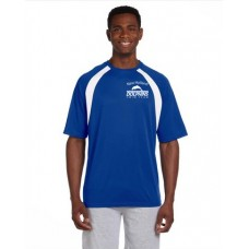 Royal/White Mens Performance Polo With New Holland Dolphins Swim Team Embroidery