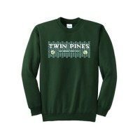 Dark Green Essential Fleece Crewneck Sweatshirt