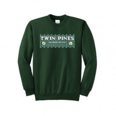 Dark Green Essential Fleece Crewneck Sweatshirt