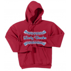 Red Pullover Hooded Sweatshirt