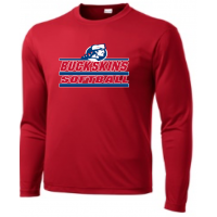 Red Long Sleeve PosiCharge Competitor Tee