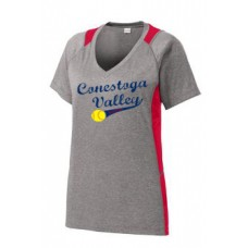 Ladies Heather Colorblock Contender Tee With Full Front Print