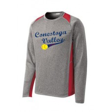 Adult Long Sleeve Heather Colorblock Contender Tee With Full Front Print