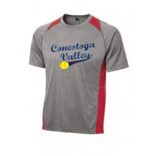 Adult Heather Colorblock Contender Tee With Full Front Print