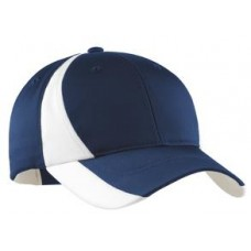 Dry Zone Nylon Colorblock Cap With Embroidery