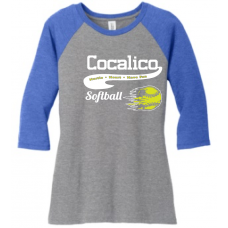 Ladies 3/4 Raglan