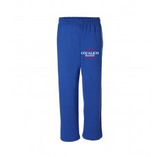 Cocalico Baseball Adult Open Bottom Sweatpants With Cocalico Baseball Print