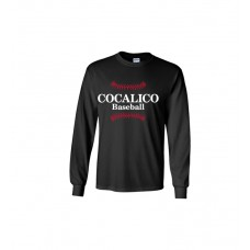 Gildan - Ultra Cotton™ Long Sleeve T-Shirt With Cocalico Baseball Print