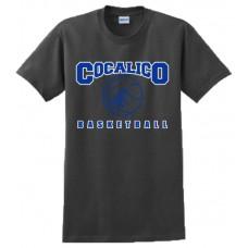 Gildan - Ultra Cotton™ 100% Cotton T-Shirt With Cocalico Basketball Print