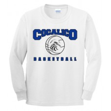Gildan - Cotton™ Long Sleeve T-Shirt With Cocalico Basketball Print