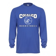 100 % Polyester Core L/S Tee with Cocalico Basketball Print