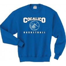 JERZEES® SUPER SWEATS® - Crewneck Sweatshirt With Cocalico Basketball Print