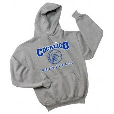 JERZEES® SUPER SWEATS® - Pullover Hooded Sweatshirt With Cocalico Basketball Print