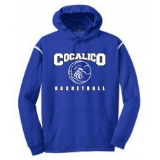 Sport-Tek® - Tech Fleece Hooded Sweatshirt With Cocalico Basketball Print