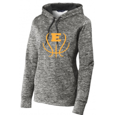 Ladies Electric Heather Fleece Hooded Pullover