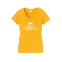 Ladies V-Neck - Lady Mounts Basketball