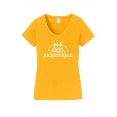 Ladies V-Neck - Lady Mounts Basketball