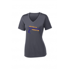 Ladies Performance V-Neck - Mountaineers Basketball