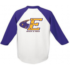 Purple/White Baseball Tee