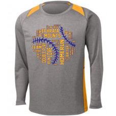 Sport-Tek Long Sleeve Heather Colorblock Contender Tee